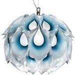 Fantasifuld pendellampe Flora M, blå