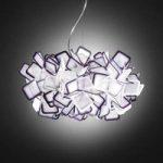 Fantastisk hængelampe Clizia, lilla