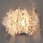 Blomstret væglampe Fiorella Mini