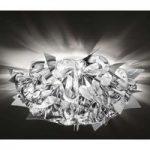 Sølvfarvet designer-loftslampe Veli Mini