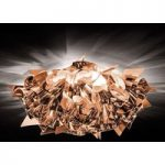 Smuk loftslampe Veli i kobber, 53 cm