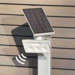 LED-solcellelampe XSolar gulv. hvid