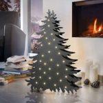 Træ dekorationslampe Blacky højde 46 cm