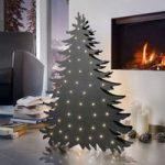 Træ dekorationslampe Blacky højde 66 cm