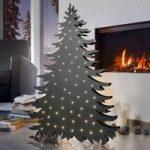 Træ dekorationslampe Blacky højde 94 cm
