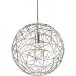 Hængelampe Cage af metal, sølvgrå, Ø 35 cm