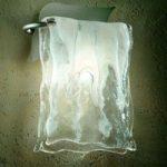 MURANO væglampen i aluminium/glas
