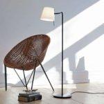 Funktionel designer gulvlampe Elane med lysdæmper