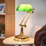 Steve banklampe med grøn glasskærm