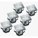 Sæt med 6 dele – LED-nedgravningsspot Ranex