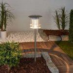LED-solcelle-lampe Brush med jordspyd og sensor