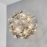 CURLS skinnende pendellampe med krystaller 50