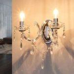 MARIE THERESE – klassisk væglampe, krom