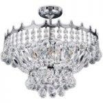 Versailles – krystal loftslampe i krom