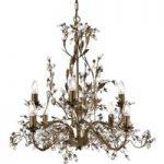 8 lyskilder Lysekrone Almandite i florentinsk stil