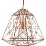Futurisk hængelampe Geometric Cage kobber