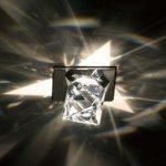Octa – loftslampe med ottekantede krystaller