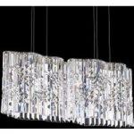 Krystal-pendellampe Selene med LED'er