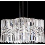 Kompakte LED hængelampe Selene med krystalvedhæng