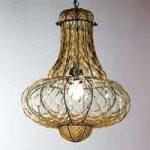 DOGE håndlavet hængelampe rav 53 cm
