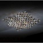 SATÉN væg- og loftlampe krystal 41 cm