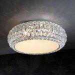 Diamond – funklende loftlampe, rund 40 cm