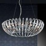 Ariadna – krystal hængelampe, klar, 66 cm