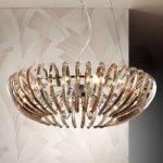 Ariadna – krystalhængelampe, champagne