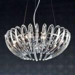 Ariadna – krystalhængelampe, klar, 53 cm
