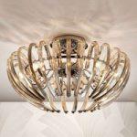 Ariadna – eksklusiv krystal loftslampe, champagne