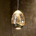 Rocio – LED-hængelampe, guld-finish, 1 lysk.