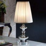 Charmerende tekstil-bordlampe Oliver