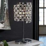 Krystal-bordlampe Satén med K9-krystaller