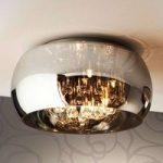 LED-loftlampe Argos med krystaller