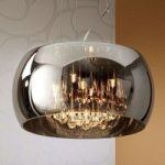 LED-loftlampe Argos med krystaldråber