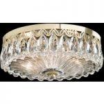 Krystal-loftlampe Fontana Luce med guld finish
