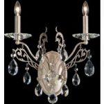 Detaljeret krystal-væglampe Filigrae