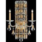 Eksklusiv krystal-væglampe Sarella i guld