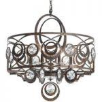 Bronzefarvet krystal-pendellampe Gwynn