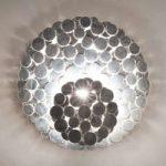 Udtryksfuld væglampe Tresor, sølv