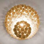 Usædvanlig væglampe Tresor, guld