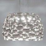 Nikkelfarvet LED-pendellampe Anish – Ø 63 cm