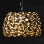 Forgyldt LED-pendellampe Anish Ø 44 cm