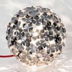 Dekorativt designet bordlampe Ortenzia