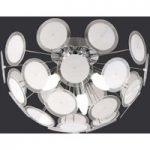 Circle den individuelle loftslampe hvid/krom