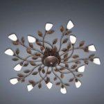 Florentinsk LED-loftslampe Jela, rust-optik