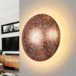 Kobberfarvet LED væglampe Chiros
