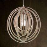 Boolan – pendellampe med lysegrå bambuskærm