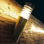 SATURN udendørs væglampe i rustfrit stål
