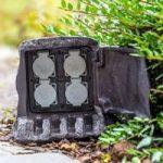 4-faset strømfordeler Træstub til udendørs